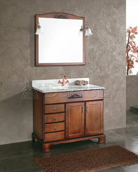 Bathroom furniture wooden bathroom vanity ADA optional Linen cabinet